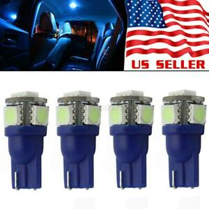 4x Ice Blue 5 5050 Smd T10 168 158 2886x Led Interior Dome Map Lights For Toyota