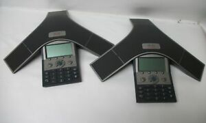 Lot Of 2 Cisco Cp 7937g Polycom Technology Ip Conference Station Voip Phone