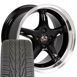17 Wheel Tire Set Fit Ford Mustang Cobra R Style Black Rims W mach d Lip Toyo