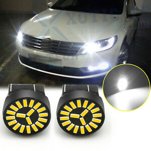 For Vw Passat 2012 2015 Beetle 2012 2019 White Led Daytime Running Light Bulbs