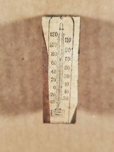 Vtg Copper Wood Printing Press Plate Block Stamp Thermometer