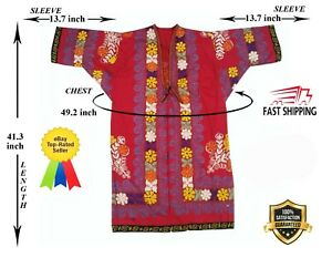 Multicolor Vintage Uzbek Embroidery Suzani Robe Dress Jacket Sale Was 160 00