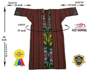 Uzbek Adras Beautiful Vintage Hand Embroidery Robe Dress Sale Was 149 00