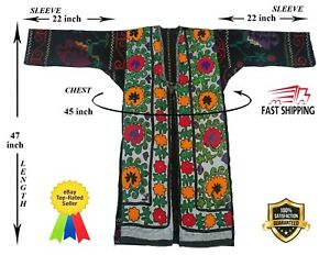 Jacket Velvet Vintage Uzbek Suzani Hand Embroidery Robe Dress Sale Was 159 00