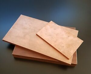Copper 99 9 Sheet Plate New 30mm Thick Many Sizes