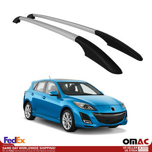 Top Roof Rack Side Rails Bars Alu Silver For Mazda 3 2004 2013