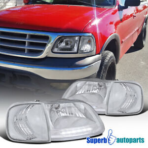 For 1997 2003 Ford F150 Expedition Led Drl Headlights W Corner Turn Lamps
