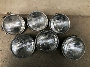 Lot Of 6 Headlights Buckets For Vintage Corvette 5 Tested Working