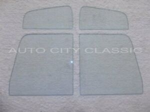 Side Glass 1948 1964 Willys Pickup Truck Vent Door Clear 4pc Set Lh Rh