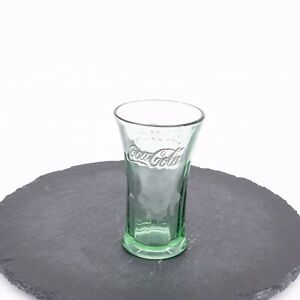 Vintage Coca Cola Glass Libbey Green Wide Mouth Heavy Thick Drinking Cup Soda