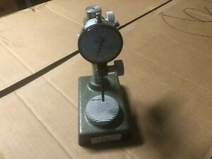 Mitutoyo No 7003 Comparator Stand Serrated Anvil 2804 10 Indicator Excellent