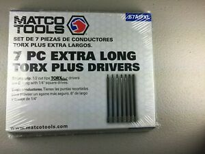 Matco Tools 1 4 Drive Torx Extra Long Bit Socket Driver Set