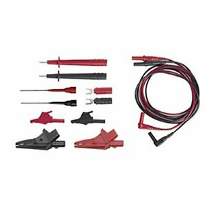 Electrical Dmm Test Lead Kit W Rt angle Plugs Cat Iii 1000v 12 Pc W Pouch