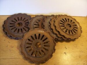 2 Vintage Cast Iron Ih Planter Plates 1978a International Harvester Lot C