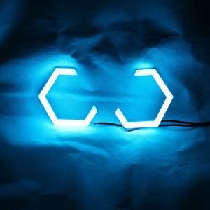 Hex Halo Rings Rgb Bluetooth Control Angel Eyes Car Motorcycle Projector 70mm