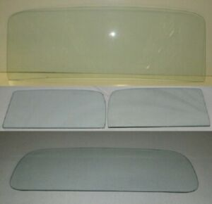 1935 1936 Ford Pickup Glass Truck Windshield Door Back Clear Set