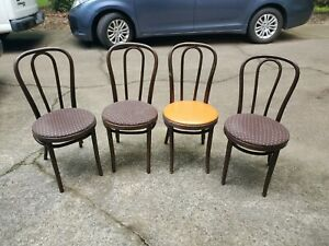 Reverse Auction Thonet Bentwood Cane Parlor Bistro Cafe Chair