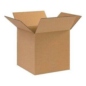 10 X 10 X 10 Corrugated Boxes 5 Pack 200 Lbs Test