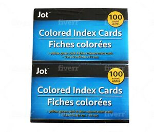 Jot Index Cards 10 Packs Of 100 1000 White And Colored Ruled Index Cards