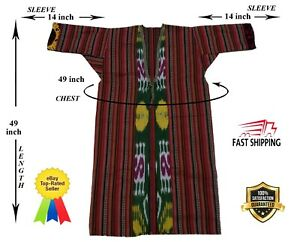 Vintage Adras Uzbek Beautiful Jacket Original Robe Dress Sale Was 125 00
