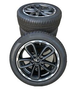 New Mini Cooper 17 Style 562 Black Summer Complete Wheel Tire Set F55 F56 F5