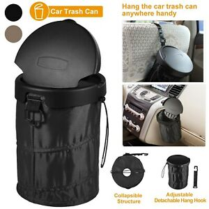 Car Trash Can Portable Car Garbage Bin Foldable Pop up With Cover Leak Proof Us