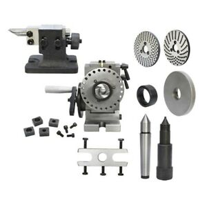 Bs 0 Semi Universal Dividing Head Spindle Tail Stock Milling Mill Set