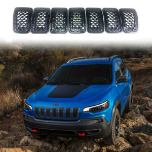 Black Grill Inserts For Jeep Cherokee 2019 2020 Front Grille Honeycomb Mesh