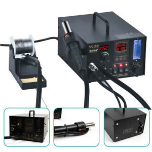 968a 4 In1 Digital Hot Air Rework And Soldering Station Smd Fume Extractor Top