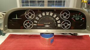1960 1961 1962 1963 Chevy Truck Instrument Gauge Cluster Panel
