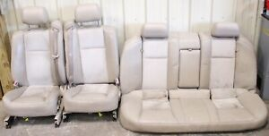 2004 2007 Cadillac Cts v Light Tan Leather Suede Seat Set Front