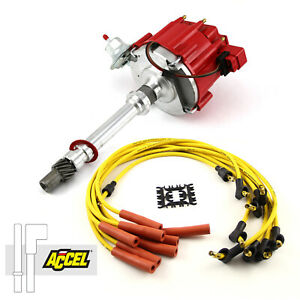 Fits Chevy Sbc 350 Bbc 454 Hei Distributor Accel Spark Plug Wires Ignition Combo