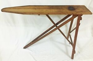 Vintage Primitive Wood Ironing Board Ironing Table Howard Woodenware 47