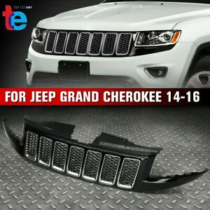 Front Bumper Honeycomb Mesh Grille Srt8 Style For 2014 2016 Jeep Grand Cherokee