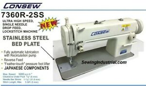 Consew 7360rb 2ss High Speed 1 needle Lockstitch Sewing Machine