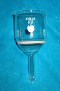 Pyrex 150ml Glass M Medium Fritted Funnel 36060 Astm 10 15
