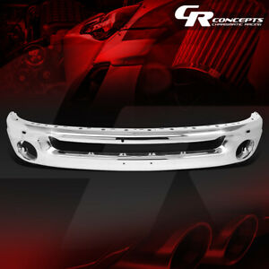 Factory Style Front Bumper Face Bar W Holes For 2002 2009 Dodge Ram 1500 3500