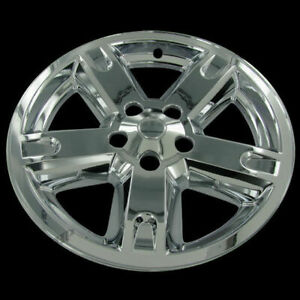 For 07 11 Dodge Nitro 17 Chrome Wheel Skin Cover Replacement Hub Caps Set Of 4