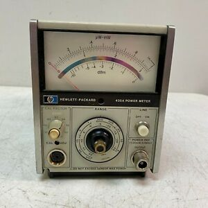 Hp 435a Analog Power Meter used Hewlett Packard working Unit Tested