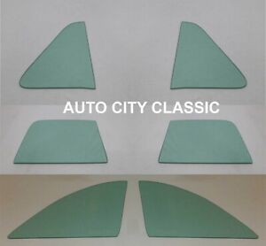 1949 1950 1951 Ford Side Glass Business Coupe Vent Door Quarter Stationary Green