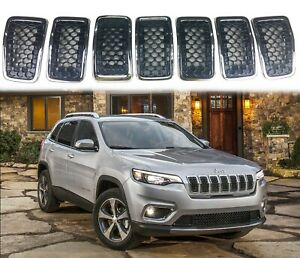Black Grill Inserts For Jeep Cherokee 2019 2020 Honeycomb Mesh Grille Inserts