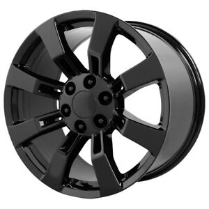 4 Replica Gmc Yukon Denali 20x9 6x5 5 31mm Satin Black Wheels Rims 20 Inch