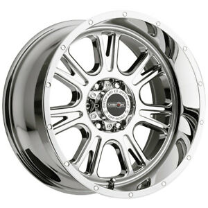 4 vision 399 Fury 17x8 5 6x5 5 0mm Chrome Wheels Rims 17 Inch