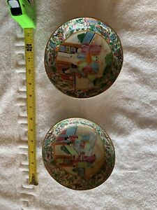Antique 19th Century Chinese Canton Famille Rose Porcelain Dish