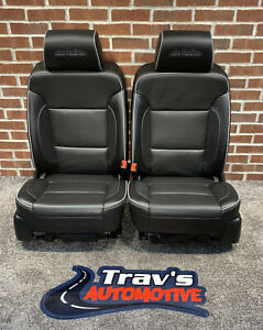 15 Chevy Silverado High Country Hd Power Heated Cooled Front Bucket Seats