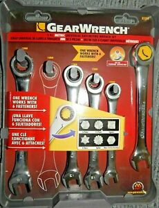 Gearwrench 85591a 5 Pc Metric Universal Ratcheting Wrench Set Free Shipping