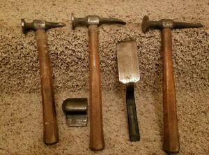Snap On Body Hammers And Dolly Lot Bf608 Bf611 Bf630 Bf712