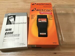 Actron Cp9001 Code Scanner Chevrolet Pontiac Oldsmobile Buick Cadillac
