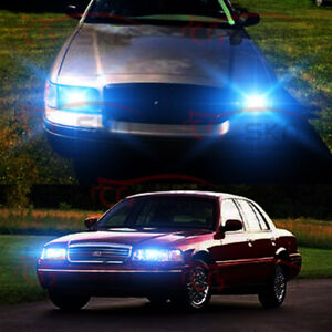 9007 8000k Led Headlight Bulbs Hi lo Ice Blue For Ford Crown Victoria 1998 2011