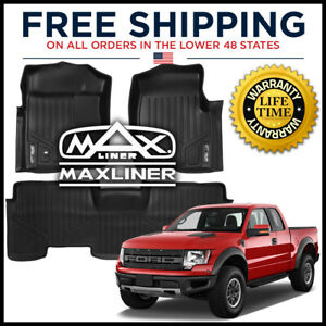 Maxfloormat 1st 2nd Row Floor Liner For 2009 2010 F 150 Super Cab W Console